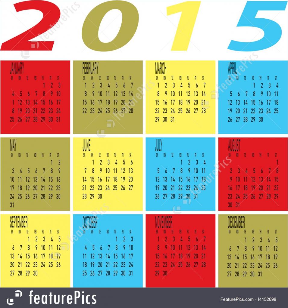 year 2015 colorful calendar illustration year 5000 calendar