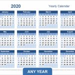 Yearly Calendar Template For 2020 And Beyond Excel 5 Year Calendar