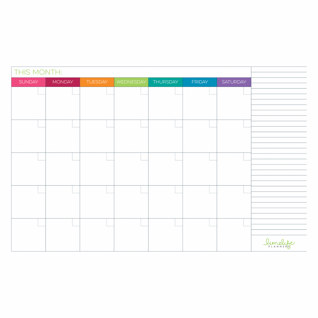 11x17 in calendar page planner pages planner printables printable 11x17 calendar with lines