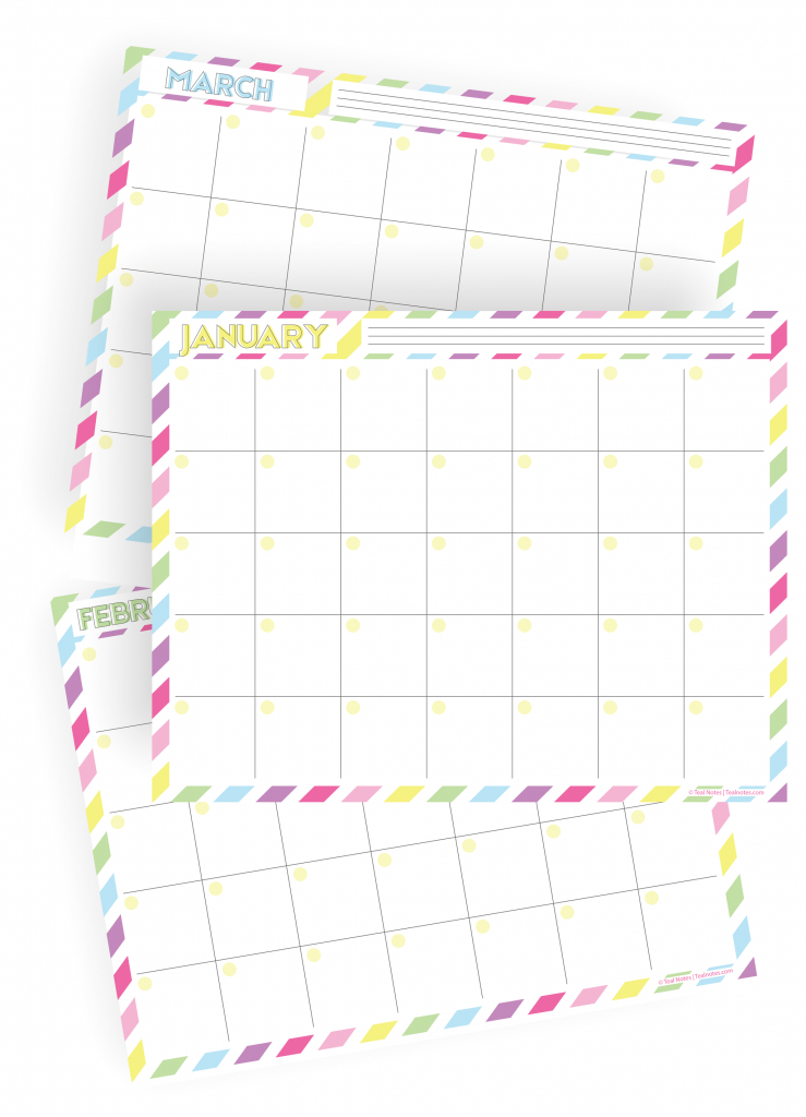 2020 12 month fill in rainbow calendar printable kit home 12 month printable fill in