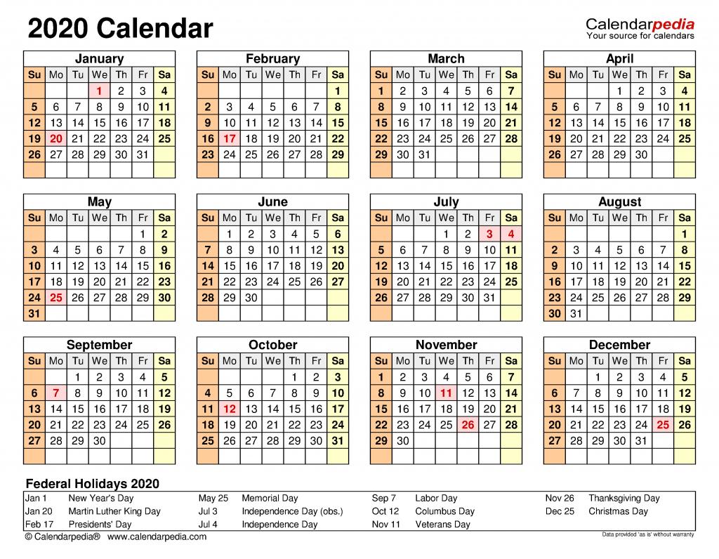 2020 calendar free printable templates wallet size 2020 calendar free printable