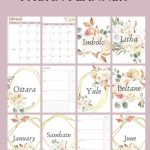 2020 Pagan Planner In 2020 Calendar Monthly Planner Day Printable Wiccan Calendar 2020