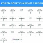 30 Day Squat Challenge Chi Blog Calendar To Count Squats