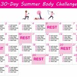 30 Day Summer Body Challenge Free Printable Workout 30 Day Printable Schedule