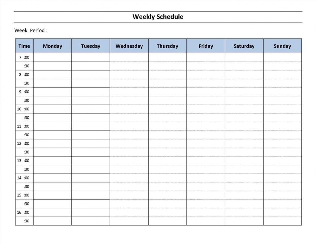 7 Day Week Calendar Printable Template Calendar Printable Seven Day Calendar Printable
