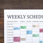 Breaking Down The 980 Work Week And What It Means For Create A Weekly Calender 8 4 Monday To Friday