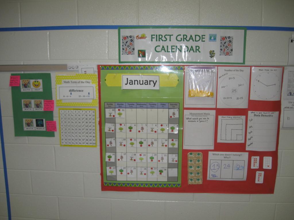 calendarnumber routines supplements k 5 mrs kathy everyday counts calendar math grade 1