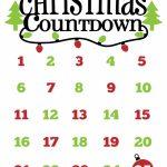 Christmas Countdown Free Printable And Free Svg Christmas Downloadable Christmas Countdown Calendar