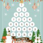 Countdown To Christmas Printable Xmas Countdown Christmas Downloadable Christmas Countdown Calendar