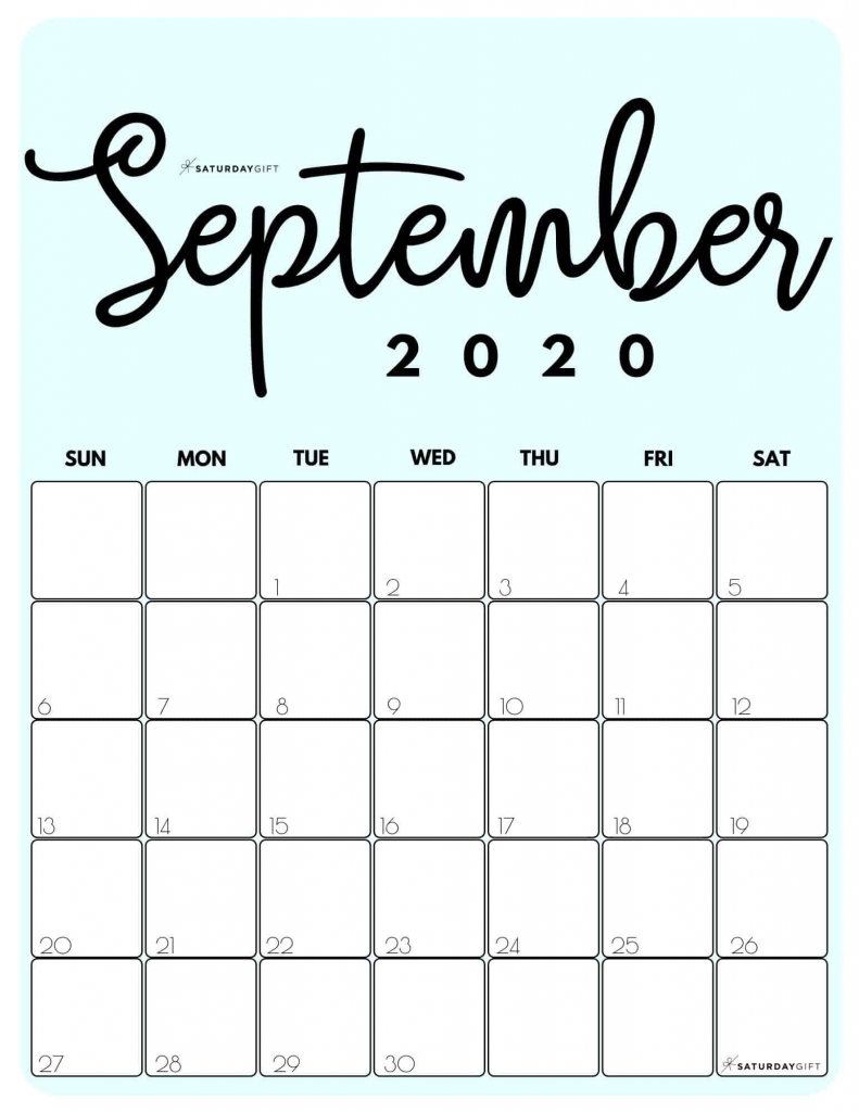 cute free printable september 2020 calendar 8 5 x 11 printable september 2020 calendar