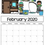 Feb 2020 Printable Calendar Welcome In Order To My Blog Period Calendar For Kids