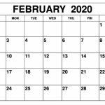 February Calendar 2020 Printable Design Template In 2020 Free Blank Weekly Planner Template Waterproofpaper