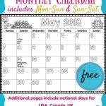 Free 2017 2018 Monthly Calendar For Kids Kids Calendar Countdown School Calendar For Kids