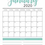 Free 2020 Monthly Calendar Printable Free Printable 2020 Lined Monthly Calendar Free Printable