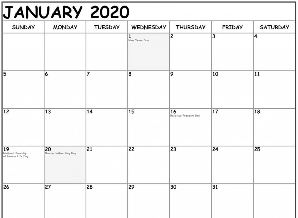 free january calendar 2020 printable template download in 12 month printable fill in