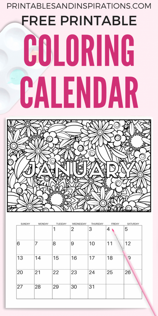 Free Printable 2020 Coloring Calendar Pages Coloring Design Your Own Calendar Free Printable