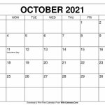 Free Printable October 2020 Calendars Printable October 2020 Calendar 8 5 X 11 1