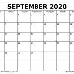 Free Printable September 2020 Calendar Printable 11 X 17 Calendar September 2020