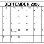 Free Printable September 2020 Calendars 8 5 X 11 Printable September 2020 Calendar 1