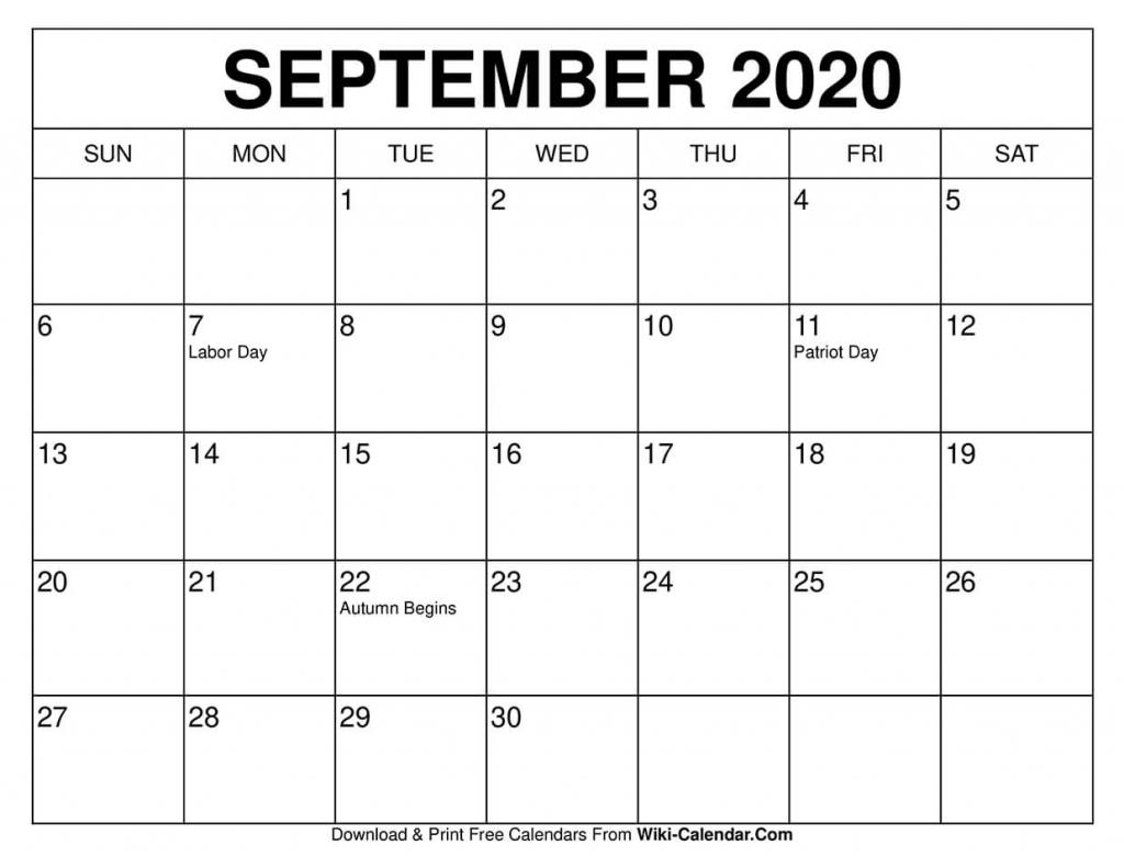 free printable september 2020 calendars printable 11 x 17 calendar september 2020 1