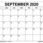 Free Printable September 2020 Calendars Printable 11 X 17 Calendar September 2020