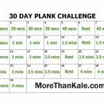 Innovative 30 Day Plank Challenge Printable Pdf Calendar 30 Day Printable Schedule