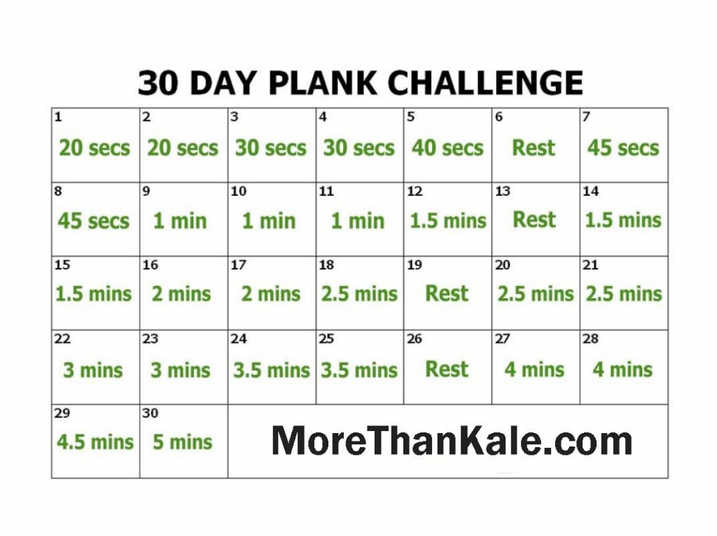 innovative 30 day plank challenge printable pdf calendar 30 day printable schedule