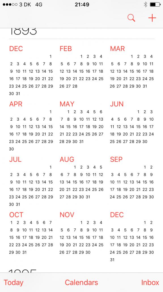 ios calendar various odd observations eskerahn 100000 calendar