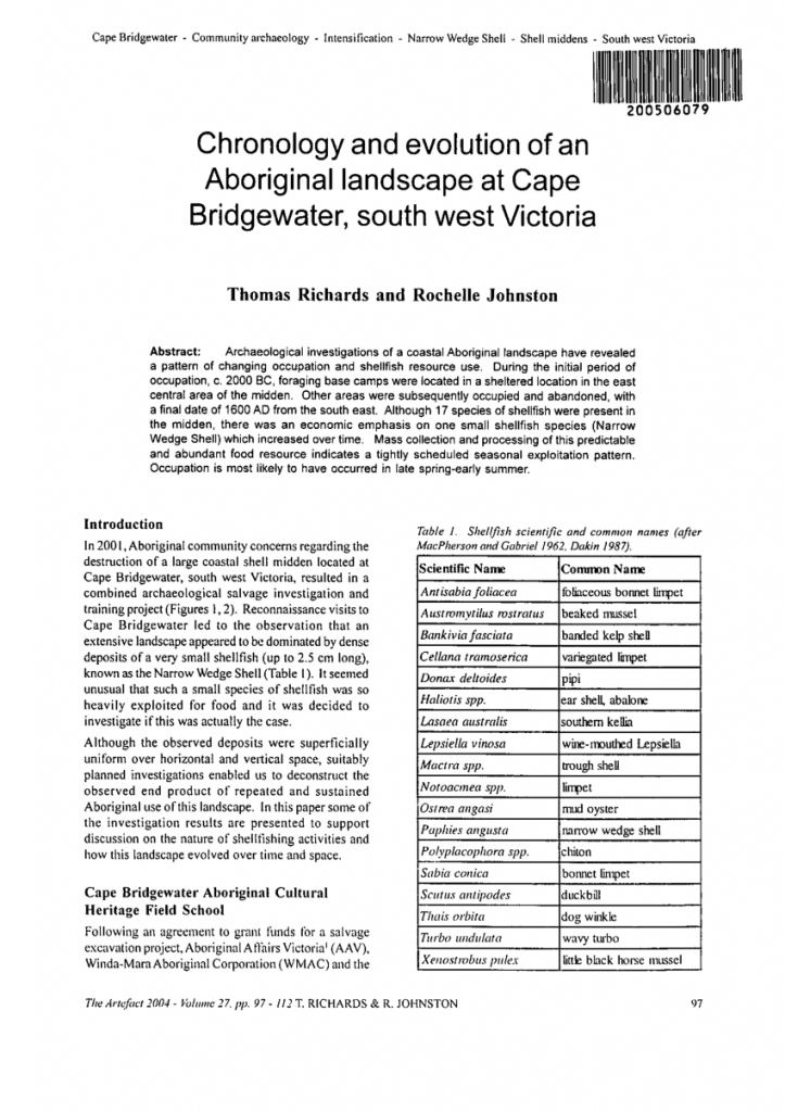 Pdf Chronology And Evolution Of An Aboriginal Landscape At Bridgewater Temple Calendar 1977