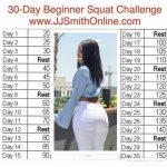 Pin Jaimee Lee Marsden On Exercise 30 Day Squat Jj Smith 30 Day Squat Challenge Printable