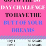 Pin On Exercise Daily Jj Smith 30 Day Squat Challenge Printable
