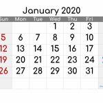 Printable Calendar 2020 January Free Printable 2020 6 Week Printable Calendar 2020