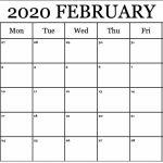Printable Calendar For February 2020 Waterproof Paper In Free Blank Weekly Planner Template Waterproofpaper