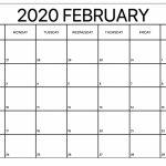 Printable February Calendar For 2020 Waterproof Paper 12 Free Blank Weekly Planner Template Waterproofpaper