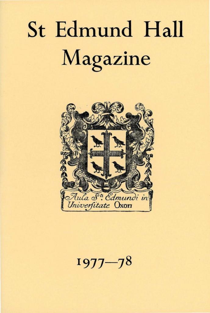 st edmund hall magazine 1977 78 st edmund hall issuu bridgewater temple calendar 1977