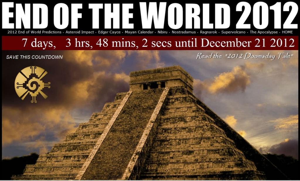 supernova125 mayan calendar end of the world 2012 211212 mayan date of end of days