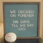 Wedding Countdown Letterboard Wedding Countdown Quotes Print Countdown To Wedding Day Office Notic3e
