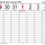 Weekly Calendars 2020 For Word 12 Free Printable Templates 6 Week Printable Calendar 2020
