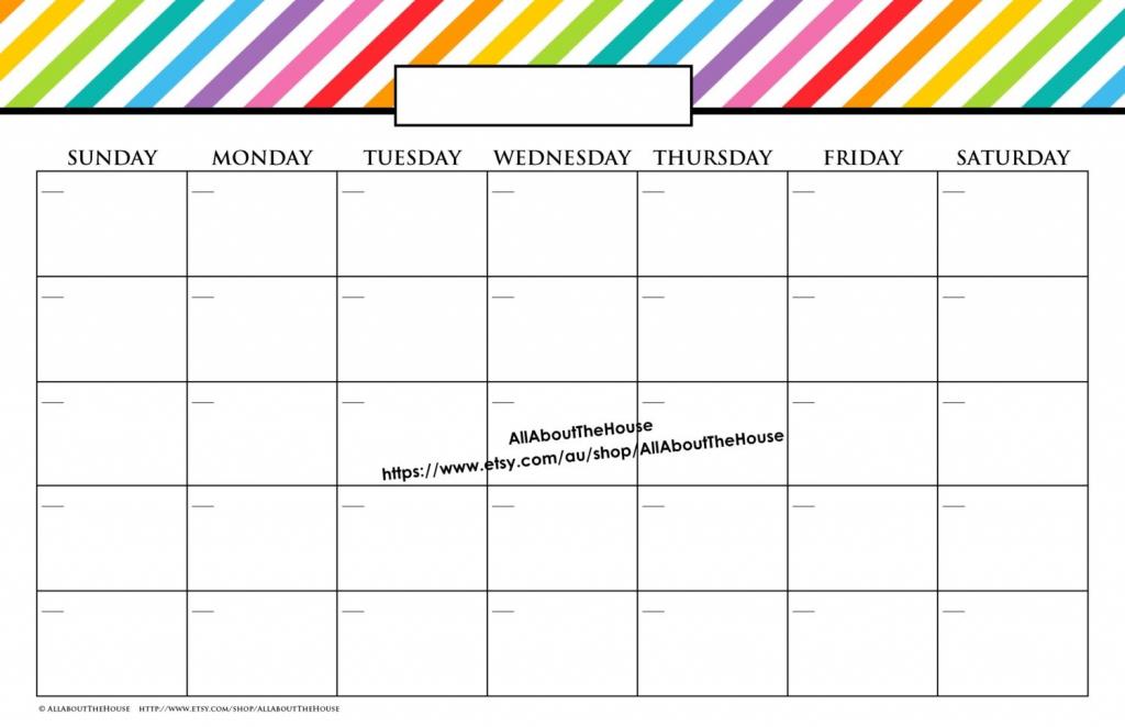11x17 Calendar Template Word Blank Calendar 11x17 1