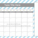 11×17 Calendar Template Word Blank Calendar 11×17