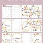 2020 Pagan Planner In 2020 Printable Planner Calendar Wiccan Calendar 2020 Printable