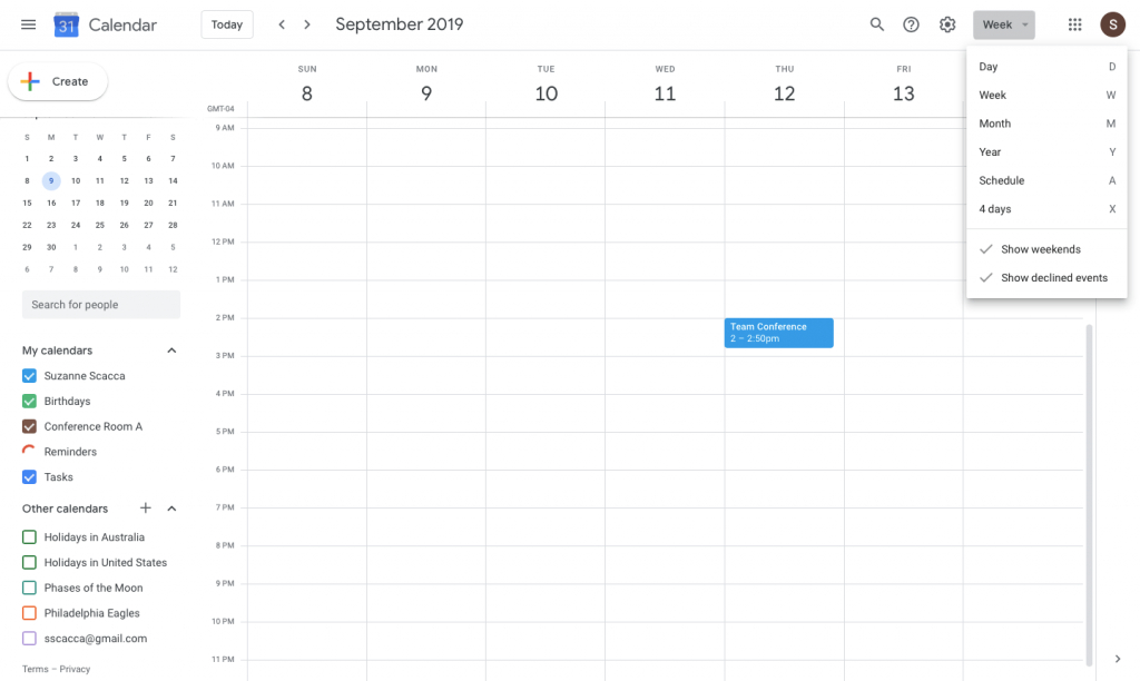 33 Google Calendar Hacks To Boost Your Productivity Copper Scheduled Calendar With The Lines