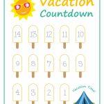 Summer Vacation Countdown Printables Vacation Countdown Printable Count Down Vacation Calandar