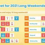 10 Long Weekends In Singapore In 2021 Bonus Calendar
