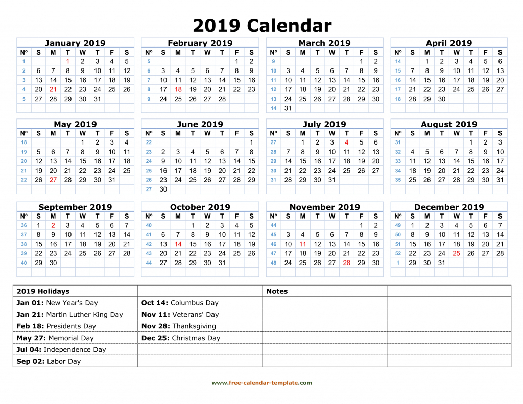 10 Year Calendar Printable Calendar Template 2020 1