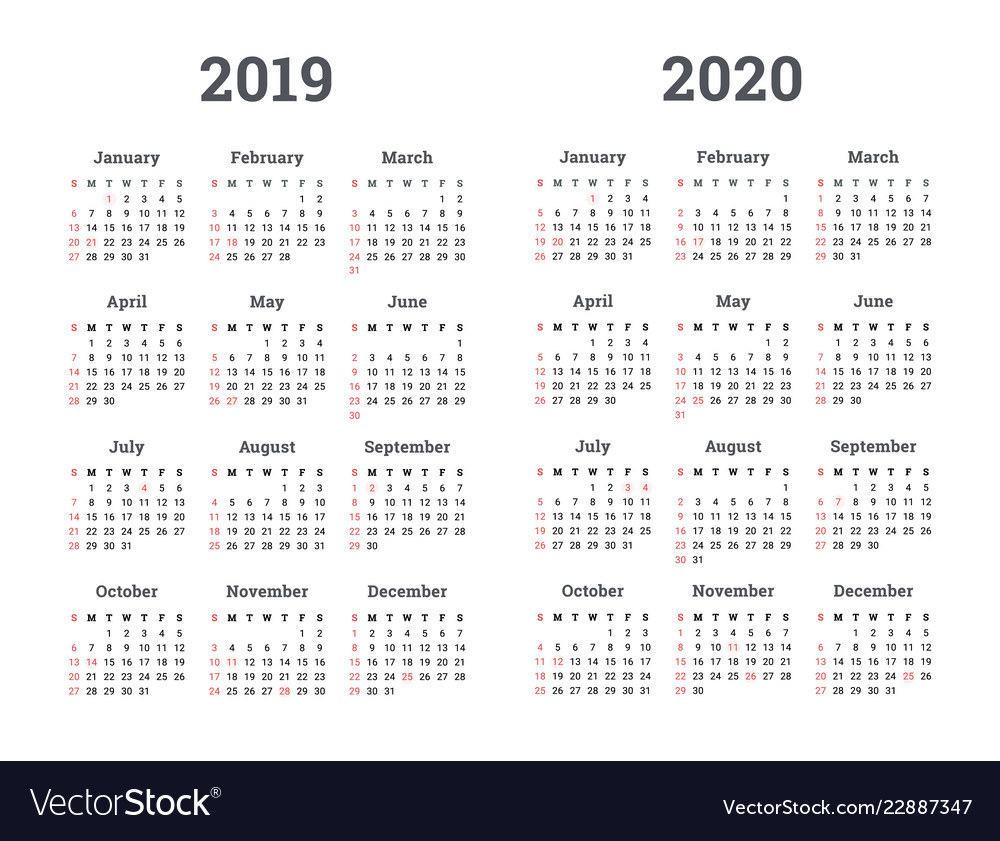 10 Years Calendar From 2020 Calendar Template Printable
