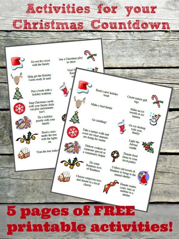 100 Advent Calendar Ideas Free Printable Activities
