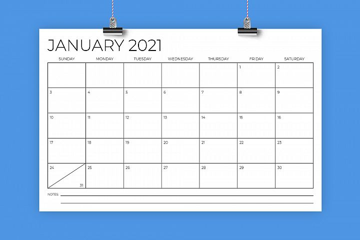 11 X 17 Inch Modern 2021 Calendar 1