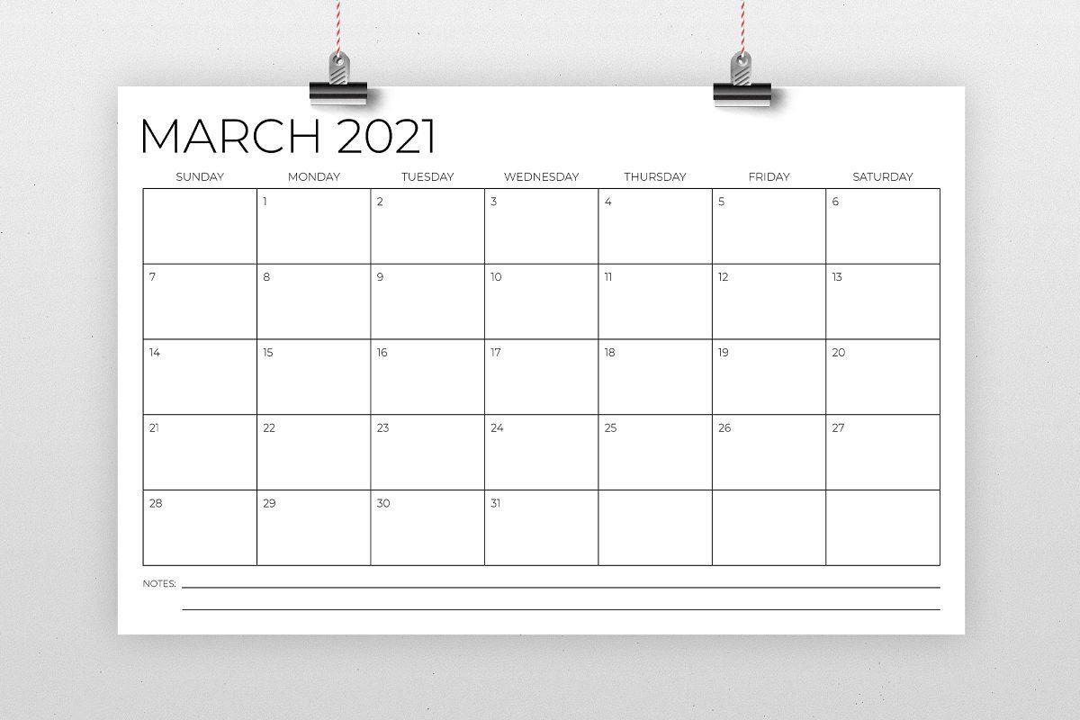 11 X 17 Inch Modern 2021 Calendar Affiliate Inch