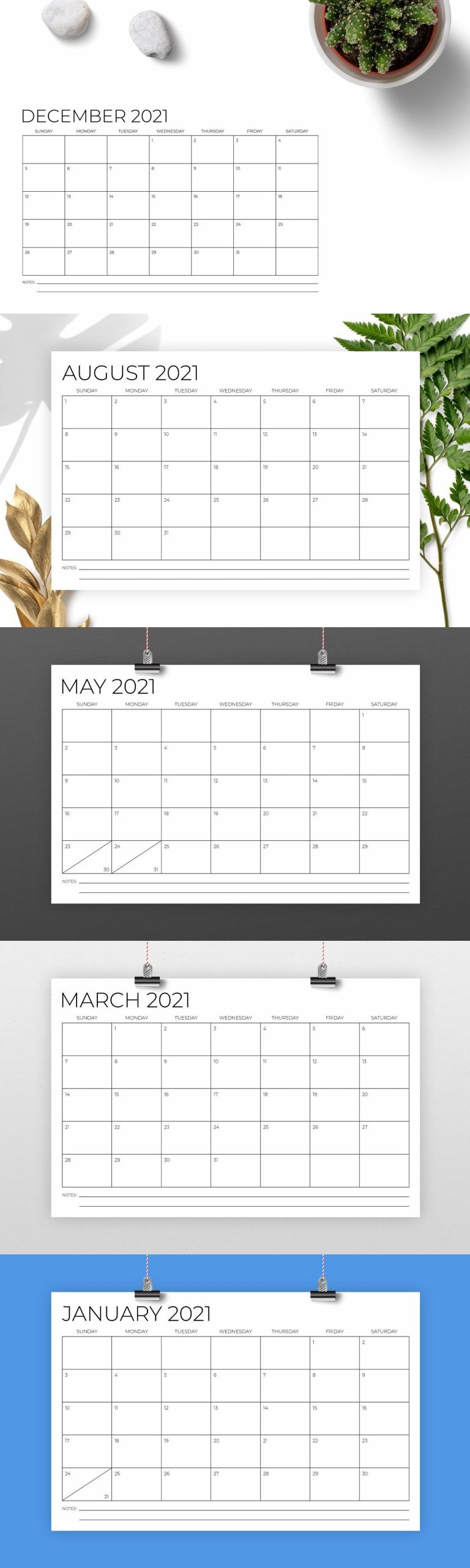 11 X 17 Inch Modern 2021 Calendar In 2020 2021 Calendar 1